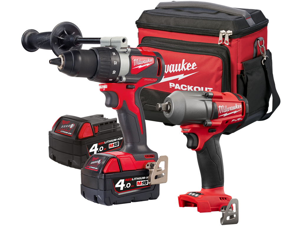 Milwaukee M18 BLDD2+M18 FMTIWF12