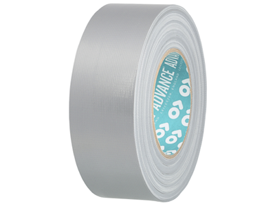 Tape 50mm x 50 mtr silver lærred (Gaffa)